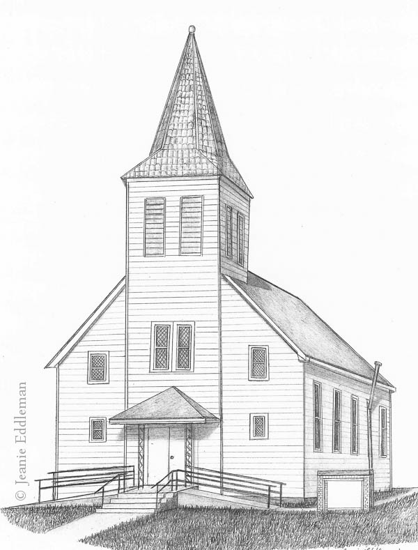 Old Church Building Drawing Www Imgkid Com The Image